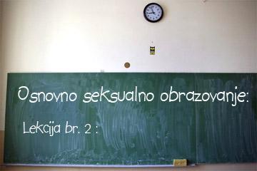 osnovno seksualno obrazovanje  - lekcija 2